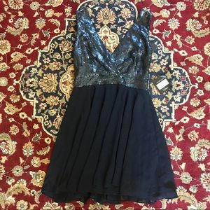 "Lulus ""sparkle and shine"" matte navy blue dress"